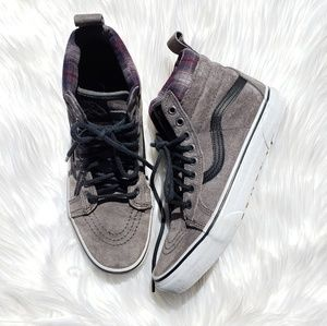 Gray Mid Top Vans Sneakers